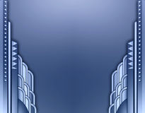Deco building border. An abstract frame using art deco buildings stock illustration