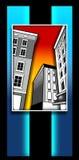 Deco buildings Stock Photo