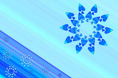 Deco card in blue. For background Stock Image