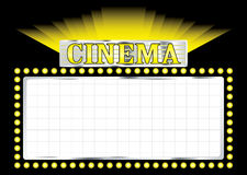 Deco cinema Royalty Free Stock Photography