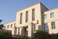 Deco Courthouse. An old courthouse in the art deco style royalty free stock images