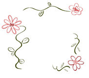 Deco de fleur de source Image libre de droits