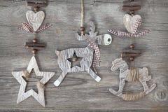 Deco de madeira do Natal Imagens de Stock Royalty Free