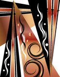Deco Design. An art deco design is featured in an abstract background  illustration Royalty Free Stock Images