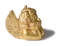 Deco dourado do Natal do cherub fotos de stock royalty free