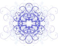 Deco element. Vegetative styled decorative graphic element Stock Photos