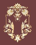 Deco element. Vegetative styled decorative graphic element Royalty Free Stock Photo