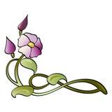 Deco, fleur-croquis pour la fusion Image stock