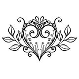 Deco Heart Royalty Free Stock Images