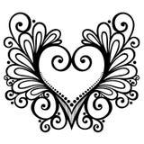Deco Heart. Vector Deco Abstract Heart. Design element stock illustration