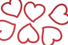 Deco hearts Royalty Free Stock Photography