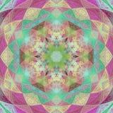 Deco hermoso Mandala Patterned Design, amuleto de los triángulos ilustración del vector