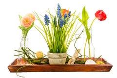 Deco isolato del fiore artificiale Fotografie Stock Libere da Diritti