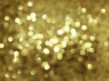 Deco lights. Bllury patern of golden lights Stock Photo