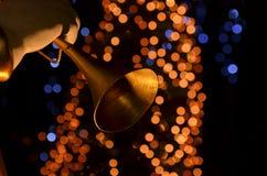 Deco Lights. Blurry pattern of decoration lights Stock Photo