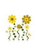 Deco mignon de fleur Images stock