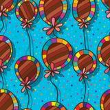 Deco naadloos patroon van de ballonbloem royalty-vrije illustratie