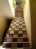 Deco Stairs. Art deco stairs from Morrocan Riad Stock Photos