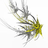 Deco Star Flock. Abstract star shape decoration 3d, over white Stock Photos
