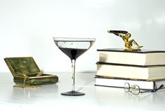 deco still life champagne gls Stock Photography