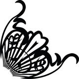 Deco swirl corner. A decoration for the corner of a document or a presentation vector illustration