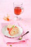 Deco Swiss Roll Cake Royalty Free Stock Images