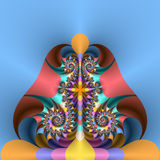 Deco thorns and blades. Abstract fractal image resembling Deco thorns and blades Stock Image