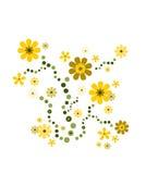 Deco van de bloem in heldere geel Stock Foto's