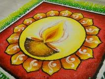 Deco van Deepavali Stock Foto's