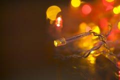 Decoaration électrique de Noël Photographie stock