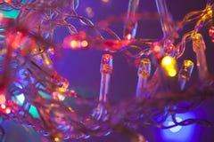 Decoaration de Noël de lumières électriques Photographie stock