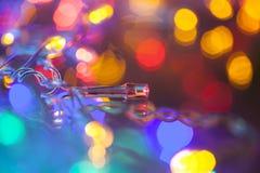 Decoaration de Noël de lumières électriques Image stock