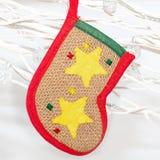 Decoation de chaussette de Noël Photographie stock libre de droits