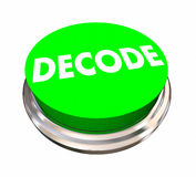 Decode Button Decipher Answer Solve Problem. 3d Illustration stock illustration