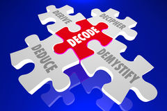 Decode Puzzle Solution Decipher Answer Stock Photography