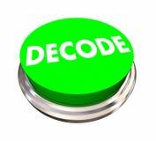 Decodeer Knoop ontcijferen Antwoord oplossen Probleem stock illustratie