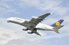 Decolagem de A380 Munich Imagens de Stock