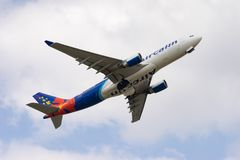 Decolagem de Airbus A330-200 Fotos de Stock