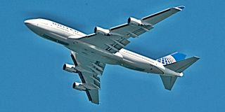 Decolagem Despesas gerais de Boeing 747-422 em Sydney Imagem de Stock Royalty Free