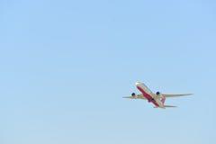 Decolagem dos aviões de jato Imagem de Stock Royalty Free
