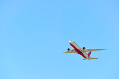 Decolagem dos aviões de jato Foto de Stock