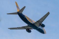 Decollo degli aerei Fotografia Stock