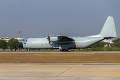 Decollo degli aerei di trasporto Fotografie Stock