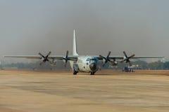 Decollo degli aerei di trasporto Immagini Stock Libere da Diritti