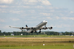 Decollo del jet Fotografia Stock