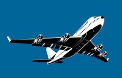 Decollo dell'aeroplano illustrazione di stock