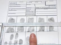 Decollo delle impronte digitali Fotografie Stock