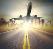 Decollo di Airplaner fotografia stock