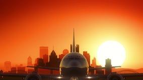 Decollo di alba dell'orizzonte di Pittsburgh Pensilvania U.S.A. America Fotografia Stock Libera da Diritti