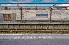 Decomissioned järnvägsstation Royaltyfri Bild